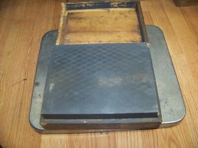 """Very Nice 10"""" X 8 X 2-1/4 Machinist Lapping Plate Surface Plate Heavy Duty 48 Lb"""