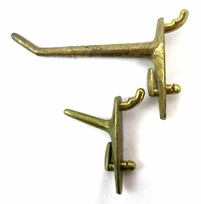 Antique Solid Brass Parts to Hall Tree Victorian Coat Rack Hook Style 18 pieces