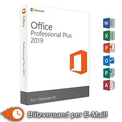 Microsoft Office 2019 Professional Plus MS Office Pro Retail