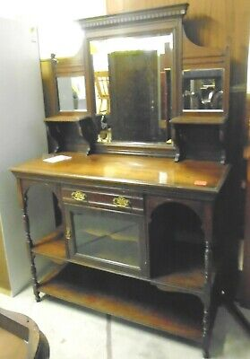 Early 20th Century Solid Wood Gothic Sideboard / Hall Unit / Dresser  - C98