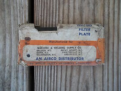 Vintage Welders Filter Plate Welding Shield 9H Morse Safety Products 2 x 4-1/4
