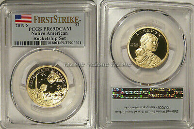 2019 S Proof Native Sacagawea Dollar $1 PCGS PR69 DCAM ROCKETSHIP First Strike