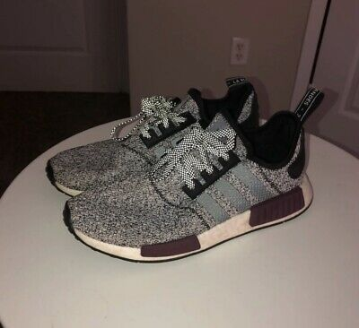 62a9273ff195c ADIDAS NMD R1 Champs exclusive Wool Grey Burgundy Black Men s size 8 ...