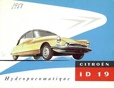 "CITROEN ""ID 19"" Hydropneumatique - 02/1957 - English sales brochure, catalogue"