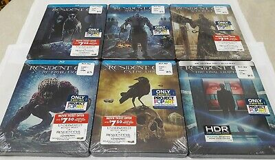 RESIDENT EVIL 1-6 Best Buy Limited Edition Blu-ray STEELBOOK COLLECTION RARE NEW