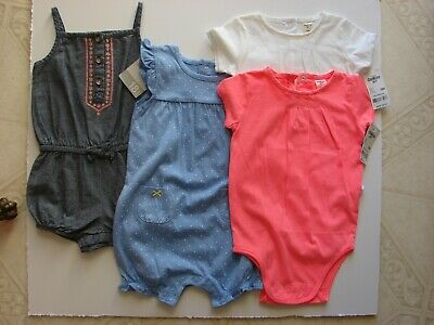 9cefc660 New W/tag Lot Of Carter's Oshkosh 18 Months Baby Girl Clothes Bodysuits  Rompers