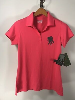 dd7b6aad NWT UNDER ARMOUR Wounded Warrior Project Performance polo shirt women M