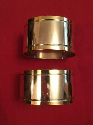 Pair Of Silver Plated Napkin Rings