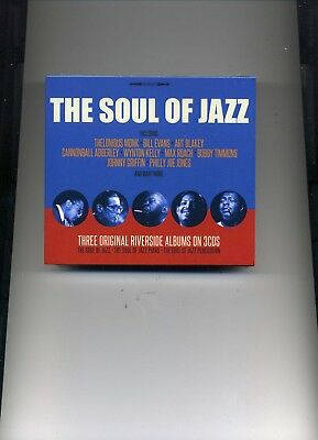 The Soul Of Jazz - Thelonious Monk Nat Adderley Bill Evans - 3 Cds - New!!
