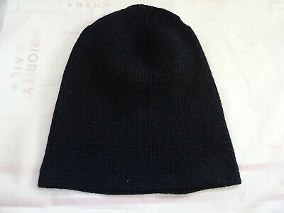 c1005a59bf9 Vintage 40s WWII US Navy USN Wool Night Watch Cap Beanie Hat Knit Rare Navy  Blue