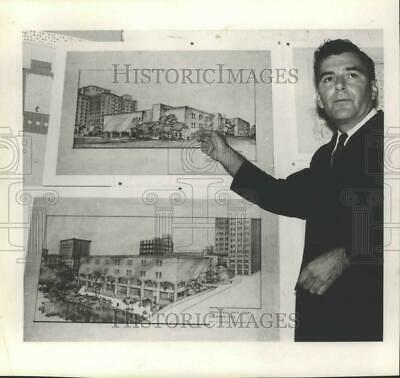 1965 Press Photo Architectural Renderings of New San Antonio Main Library