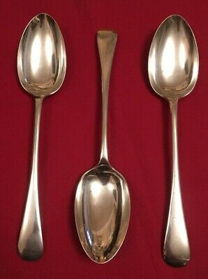 Trio Of Antique Silver Plated Tablespoons By Walker & Hall c.1891