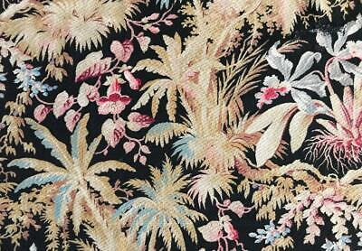 BEAUTIFUL 19th CENTURY FRENCH NAPOLEON III LINEN EXOTIC ORCHIDS  c1860s 238