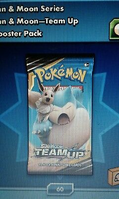 Pokemon Code Online 50 x TEAM UP Sun Moon Code Card Pack Lot - in game