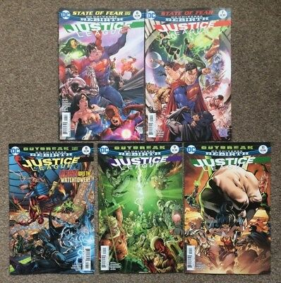 DC Universe Rebirth Justice League #6 7 8 9 10 State of Fear Outbreak 2016