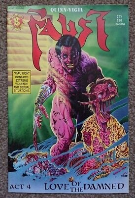 Faust Act 4 #4 1990 Tim Vigil Horror Comic Book Northstar Publishing
