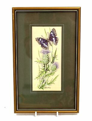 CASH 'Purple Emperor Butterfly' WOVEN EMBROIDERED Artwork / Framed - N10