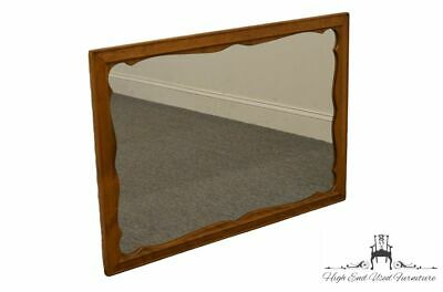 ETHAN ALLEN Heirloom Nutmeg Maple Scalloped Dresser / Wall Mirror 10-5010