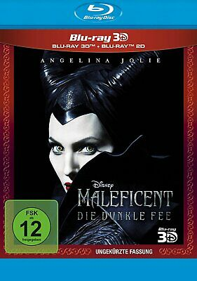 Maleficent - Die dunkle Fee 3D+2D - (Angelina Jolie) - 2-BLU-RAY-NEU
