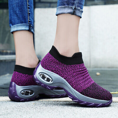 AU Women Air Cushion Running Sport Shoes Outdoor Breathable Casual Walking Shoes