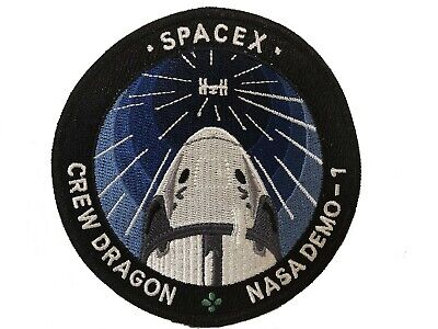 NASA Space X SpaceX Crew Dragon Capsule D-1 ISS Demo-1 Official Mission Patch