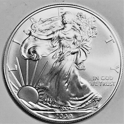 2009 Silver American Eagle BU 1 oz Coin US $1 Dollar Uncirculated Brilliant *009