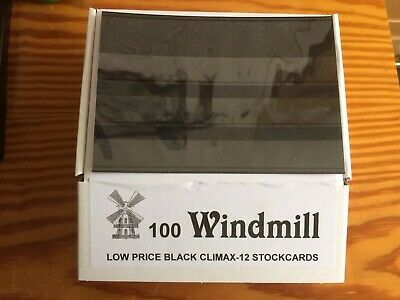 Windmill Stamp Stockcards 158mm x 110mm 3-Strips With Cover Foil. New. Pack 100