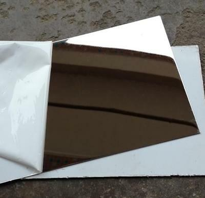 """US Stock 2pcs 0.8mm x 5"""" x 5"""" 304 Stainless Steel Mirror Polished Plate Sheet"""