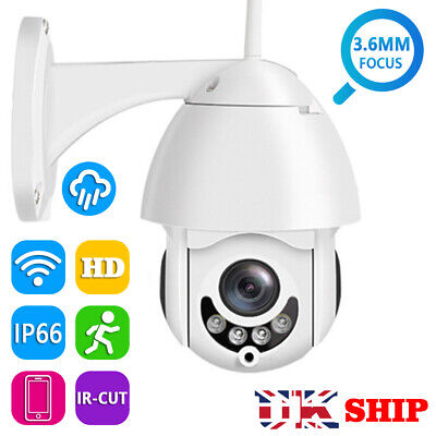 Wireless Outdoor CCTV PTZ HD 1080P WIFI IP Camera Dome Security IR Cam