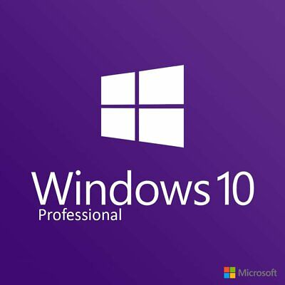 Microsoft Windows 10 Pro Professional 32&64bit Genuine Product Code License Key