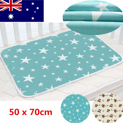 Baby Infant Waterproof Urine Mat Changing Pad Cover Change Mat 70*50CM AU