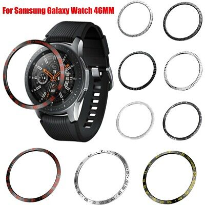 For Samsung Galaxy Watch 46MM Bezel Ring Adhesive Cover Anti Scratch Metal Cover