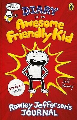 Diary of an Awesome Friendly Kid: by Jeff Kinney NEW Hardcover Book