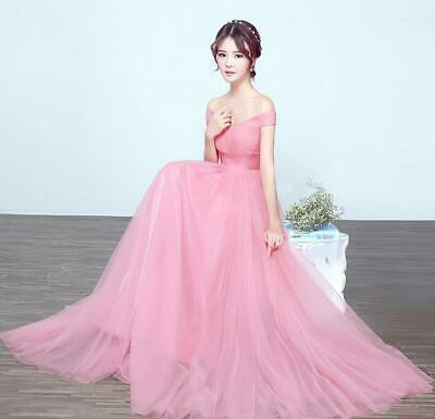 Womens Long Dresses One Shoulder Formal Wedding Party Evening Pregnant Loose Hot