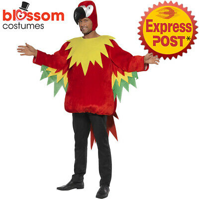 CA183 Parrot Comedy Costume Mens Ladies Zoo Animal Bird Fancy Dress Up Outfit