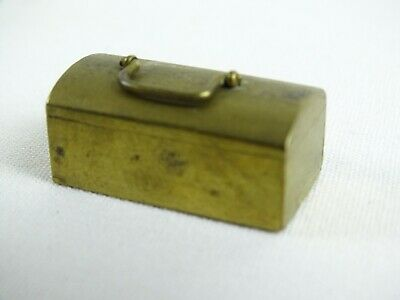 Vintage Miniature Brass Toolbow with enclosed Domino Tiles Maker Unknown