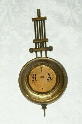 Antique/Vintage Clock 5 Bar Pendulum