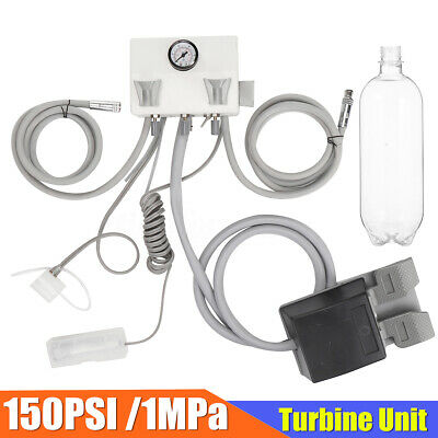 Portable Dental Turbine Unit Wall Mount Work with Air Compressor Triplex