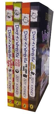 Jeff Kinney Diary of a Wimpy Kid Collection Book Old School 4 Books Set NEW