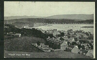 Postcard : Isle of Cumbrae view over town to Kames Bay