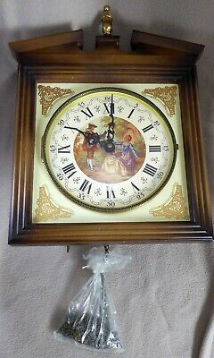 Emil Schmeckenbecher Wall Clock Movement Case Dial Hands Chains Spares/repair