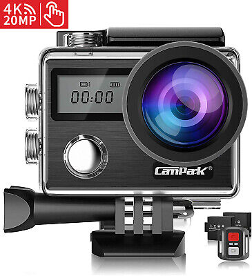 Campark X20 4K 20MP Action Camera EIS Touch Screen 30M Waterproof Remote Control