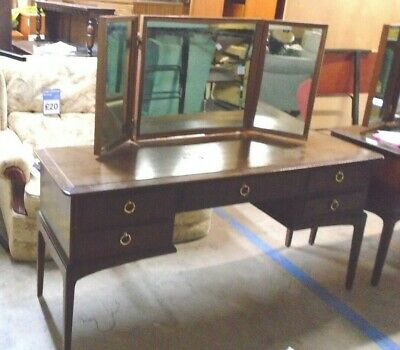 Vintage STAG MINSTREL Mahogany Classic Dressing Table With Mirror - W52