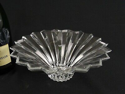 Quality Large Art Deco Style Lead Crystal Star Burst Bowl Maker Unknown