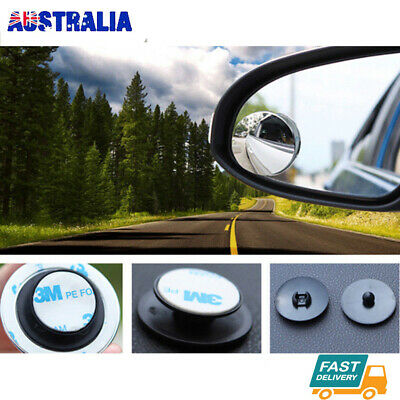 Blind Spot Car Mirror Adjustable Rear Side View Convex Glass 360 Wide Angle 2PC