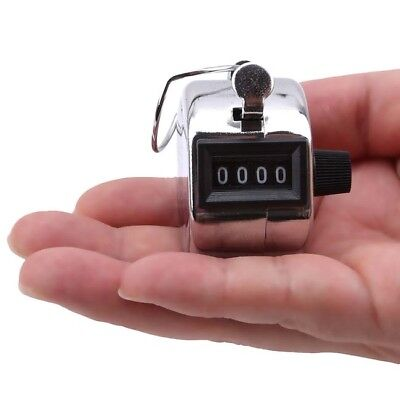 4 Digit New Counting Manual Number Hand Tally Counter Mechanical Clicker HZ