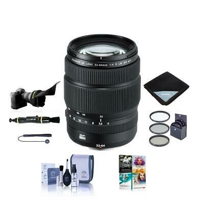 Fujifilm GF 32-64mm f/4 R LM WR Wide-Angle Zoom Lens With Free PC Accessory Kit
