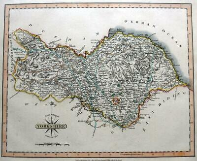 YORKSHIRE  NORTH RIDING WHITBY RICHMOND  BY JOHN CARY GENUINE ANTIQUE MAP  c1809