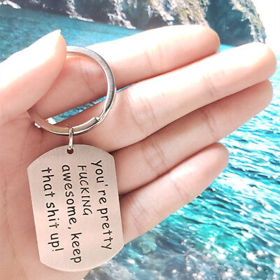 Friend Gifts You're Awesome Keyring Christmas Presents Brother Sister Key Fob HZ