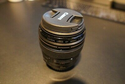 Canon EF 2519A003 85mm f/1.8 USM Lens   Perfect Condition